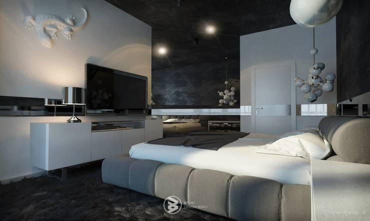 Квартира в Броварах: Спальни в . Автор – 27Unit design buro, Модерн