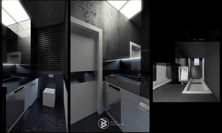 Квартира в Броварах: Ванные комнаты в . Автор – 27Unit design buro, Модерн