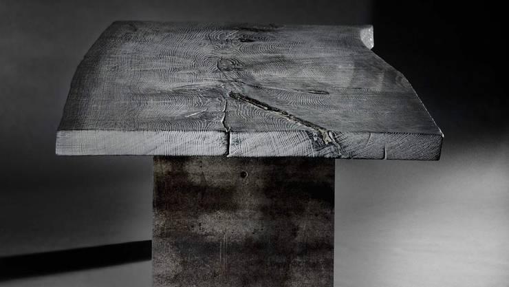 Monolith silver-grey: moderne Esszimmer von Stefan Knopp