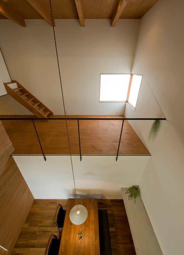 中ノ江の家: 浦瀬建築設計事務所が手掛けた寝室です。