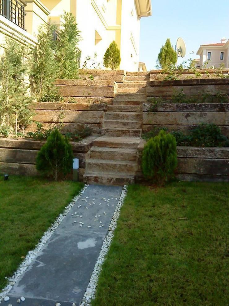 BATUBA Mimarlık Restorasyon Danışmanlık  – Pelikan Hil Villa Peyzaj:  tarz Bahçe