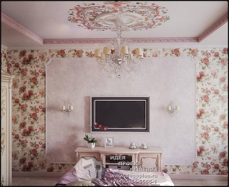 Обои с розами в интерьере спальни: Спальни в . Автор – Бюро домашних интерьеров