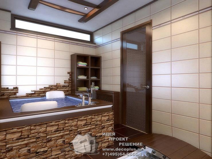 Мини-бассейн в домашнем спа: Спа в . Автор – Бюро домашних интерьеров