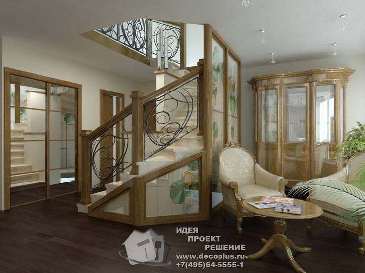 Лестница в загородном доме: Коридор и прихожая в . Автор – Бюро домашних интерьеров