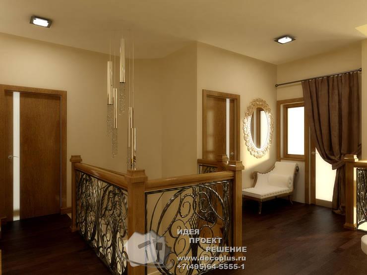 Бежево-коричневый интерьер холла: Гостиная в . Автор – Бюро домашних интерьеров