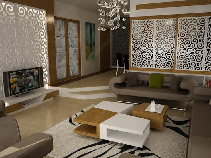 Fabbrica Mobilya – Özel Ev Tasarımı:  tarz Oturma Odası, Modern