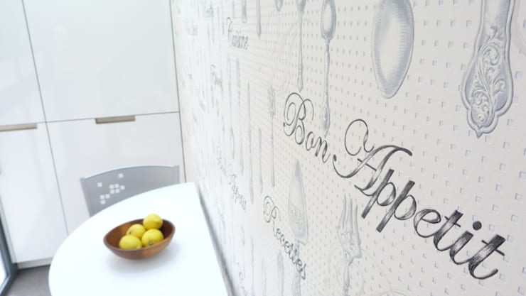 Detalle papel pintado: Cocina de estilo  de RENOVA INTERIORS