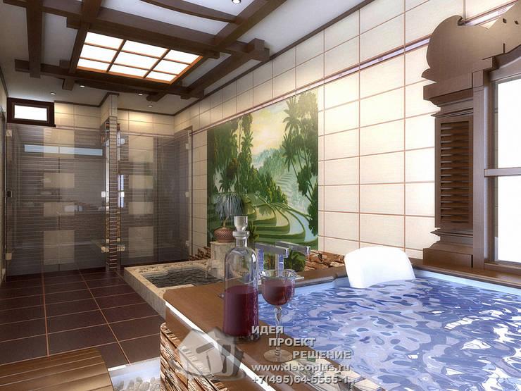 Мини-бассейн и фонтан в интерьере домашнего спа: Спа в . Автор – Бюро домашних интерьеров