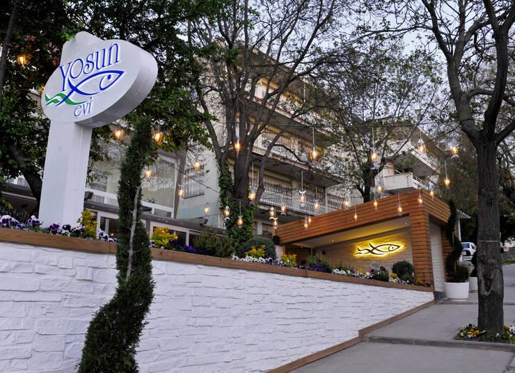 CO Mimarlık Dekorasyon İnşaat ve Dış Tic. Ltd. Şti. – Yosun Balık Evi:  tarz Duvarlar