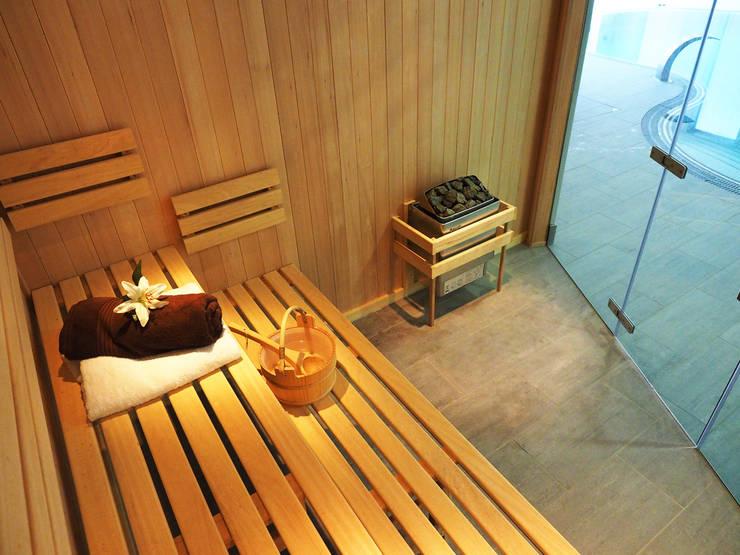 moderner Pool von Oceanic Saunas