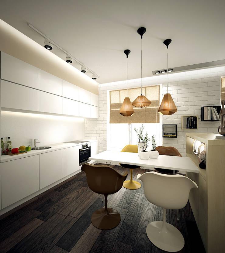 Лофт для молодой девушки: Кухня в . Автор – ООО 'Студио-ТА',