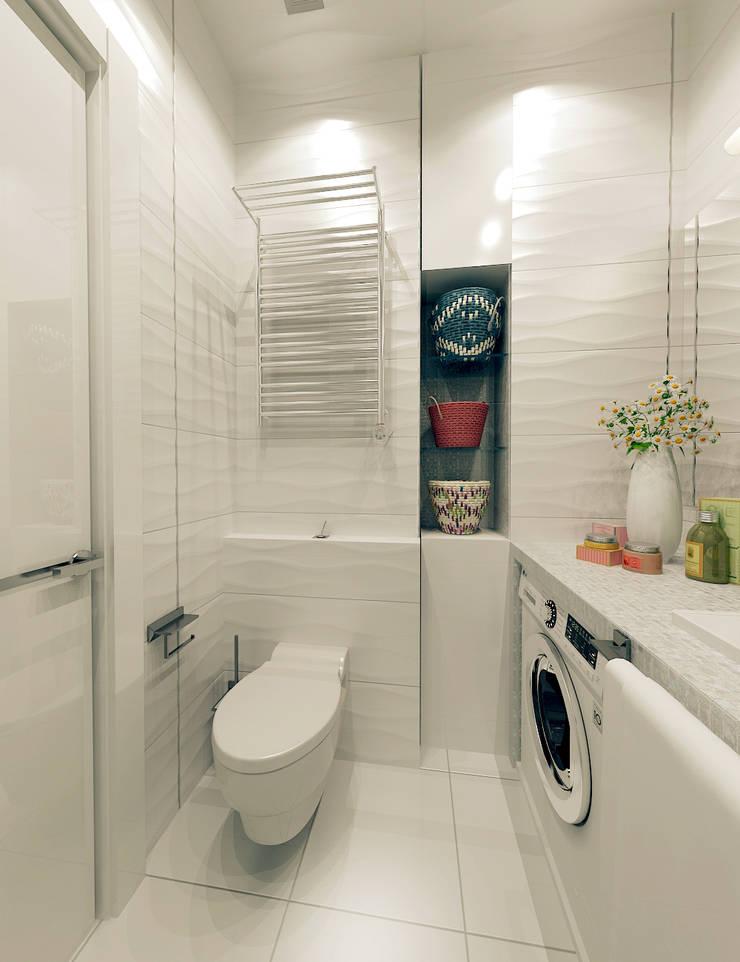 Лофт для молодой девушки: Ванная комната в . Автор – ООО 'Студио-ТА',