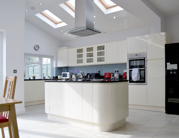 Kitchen And Roof Light - As Built:  Kitchen by Arc 3 Architects & Chartered Surveyors
