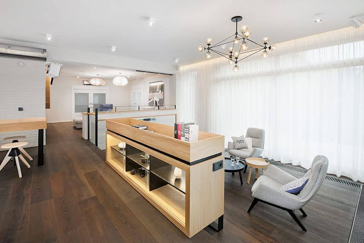 Wrocław / Biskupin, dom – 365m2: styl , w kategorii Salon zaprojektowany przez razoo-architekci