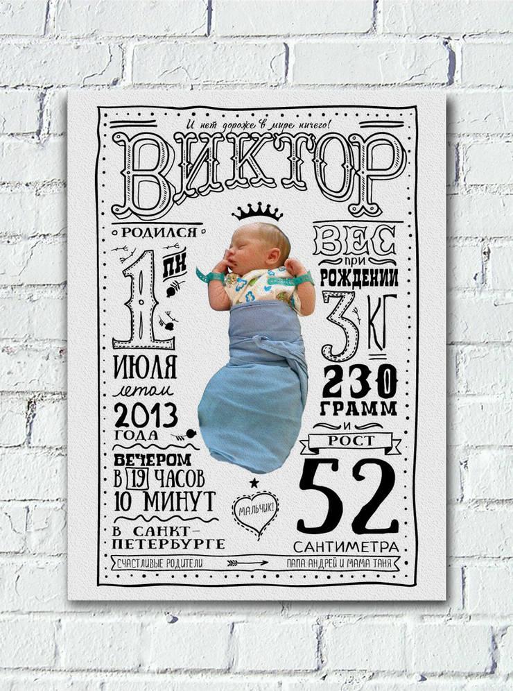 Постер в детскую. Новорожденный: Детская комната в . Автор – Shatreez