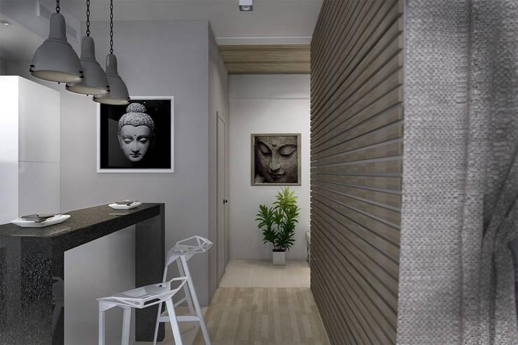 Декор на стенах и потолке: Кухни в . Автор – Дизайн-студия HOLZLAB,