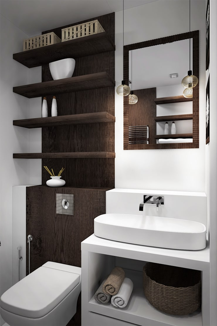 Ванная комната: Ванные комнаты в . Автор – Дизайн-студия HOLZLAB,