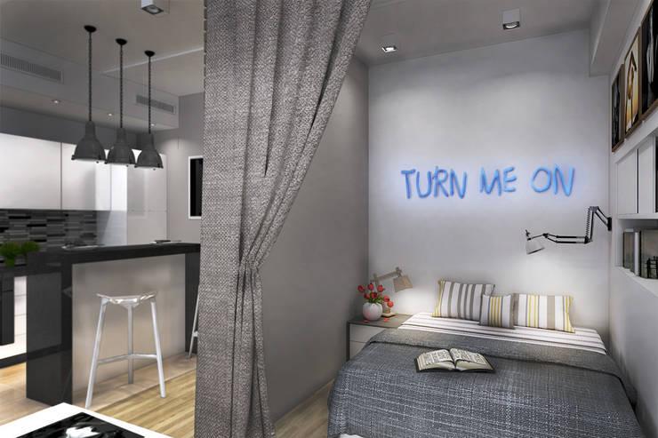 Спальня: Спальни в . Автор – Дизайн-студия HOLZLAB,
