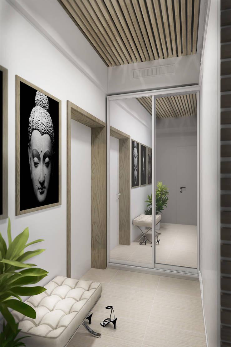 Декор на стенах и потолке: Коридор и прихожая в . Автор – Дизайн-студия HOLZLAB,