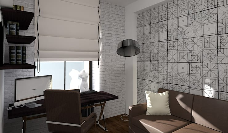 Study/office by Дизайн-студия HOLZLAB