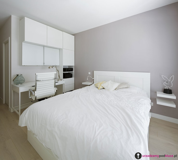 Rodzinne wnętrza: styl , w kategorii Sypialnia zaprojektowany przez Urządzamy pod klucz