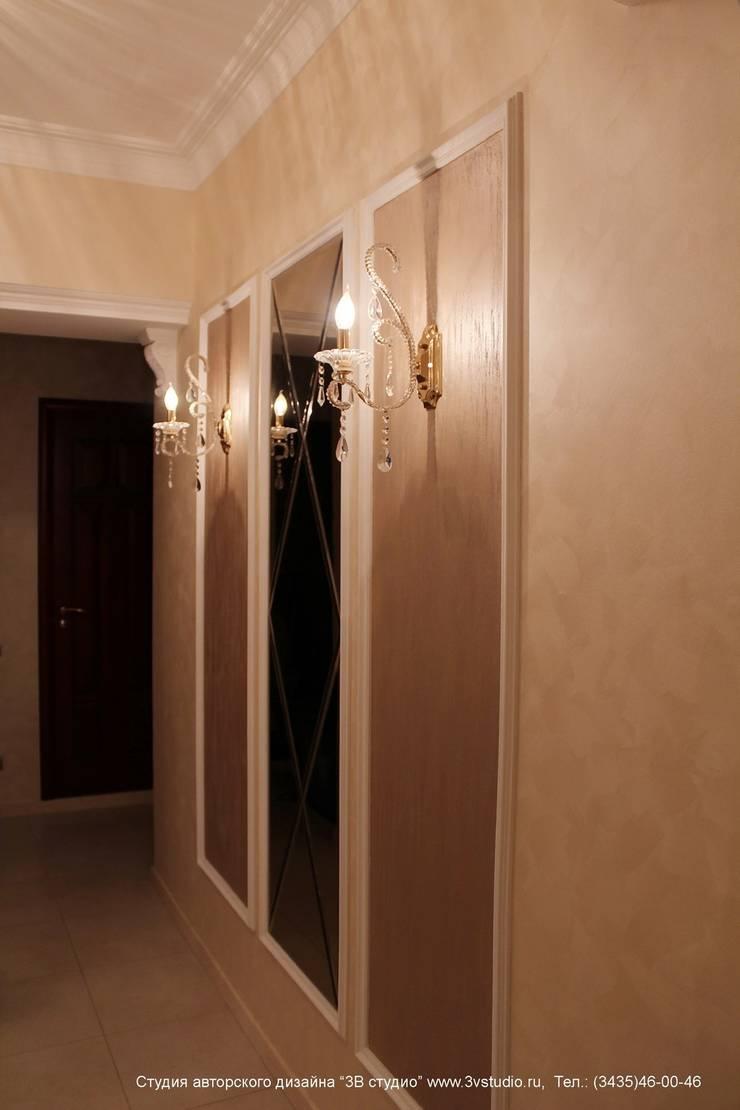 """Совмещенная гостиная, кухня и столовая в классическом стиле: Коридор и прихожая в . Автор – Студия авторского дизайна """"3Встудио"""""""