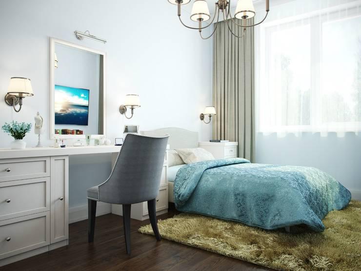 Дизайн интерьера коттеджа в неоклассическом стиле: Спальни в . Автор – дизайн интерьера DiV
