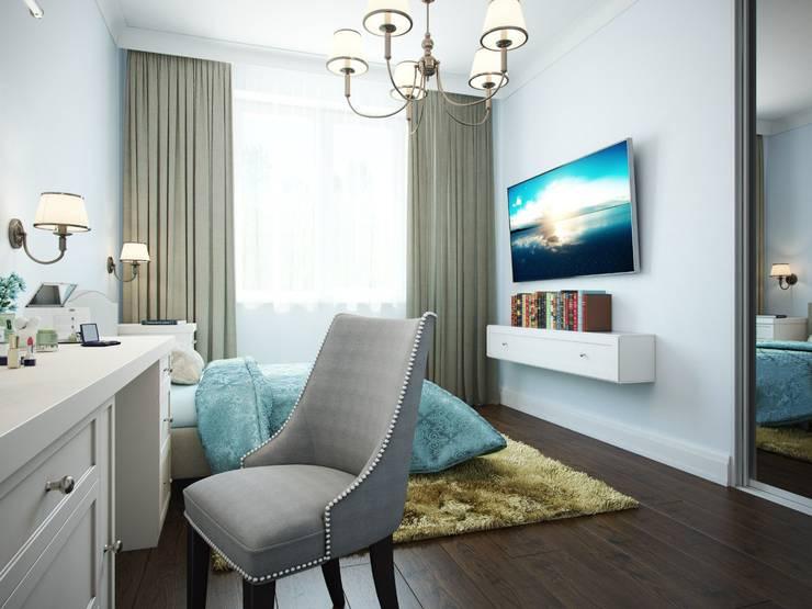 Дизайн интерьера коттеджа в неоклассическом стиле: Гостиная в . Автор – дизайн интерьера DiV
