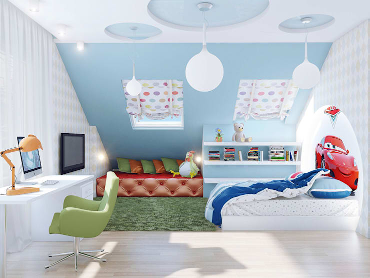Dormitorios infantiles de estilo  por Ольга Рыбалка