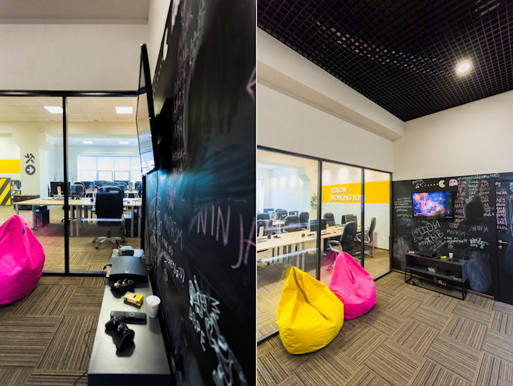 Levi9: Медиа комнаты в . Автор – 27Unit design buro