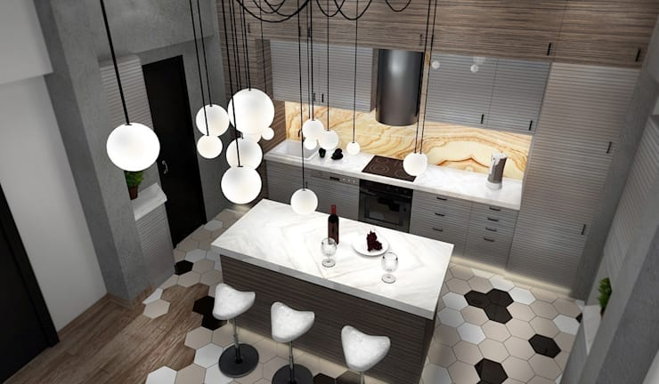 Кухня: Кухни в . Автор – Дизайн-студия HOLZLAB,