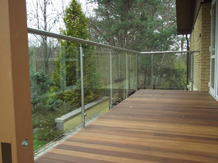 Terrace Stainless Steel Balustrade with Glass infills:  Terrace by Inox City Ltd