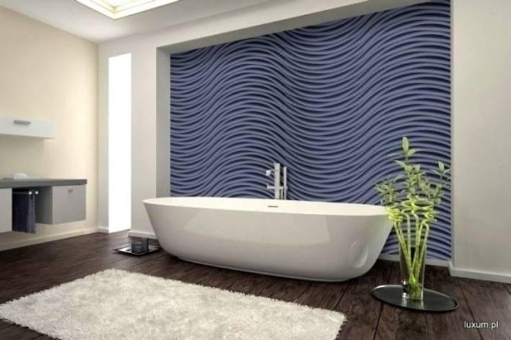 Nowoczesne panele 3D: styl , w kategorii Łazienka zaprojektowany przez Luxum
