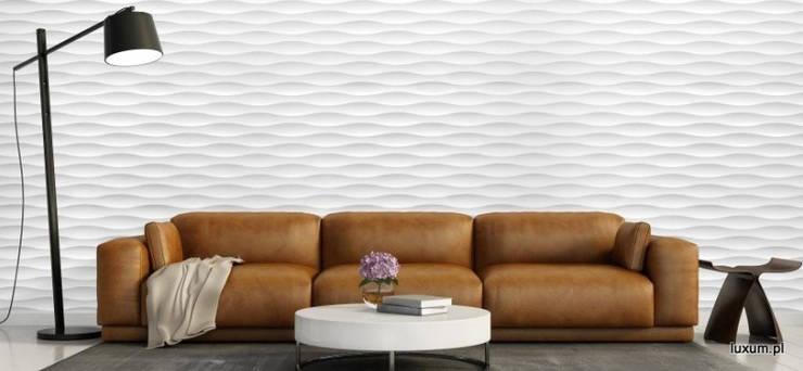 Panele MDF 3D: styl , w kategorii Salon zaprojektowany przez Luxum