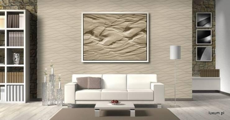 Panele ścienne w salonie: styl , w kategorii Salon zaprojektowany przez Luxum
