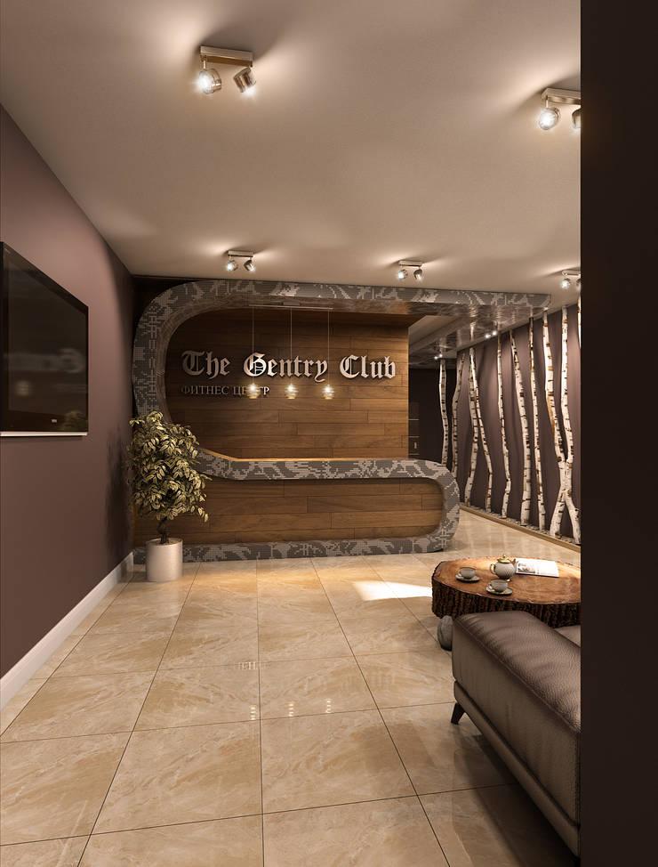 Дизайн проект Фитнес клуба: Коридор и прихожая в . Автор – MONTE FEE INTERIOR DESIGN STUDIO