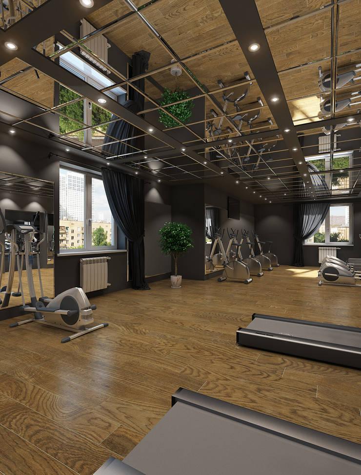 Дизайн проект Фитнес клуба: Тренажерные комнаты в . Автор – MONTE FEE INTERIOR DESIGN STUDIO