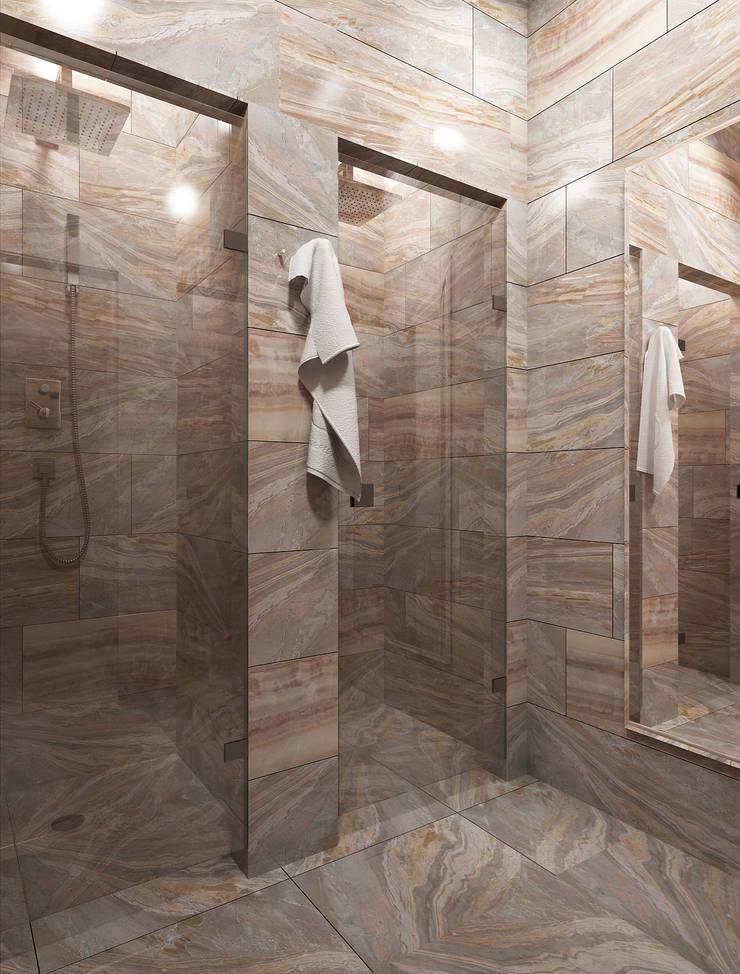 Дизайн проект Фитнес клуба: Ванные комнаты в . Автор – MONTE FEE INTERIOR DESIGN STUDIO