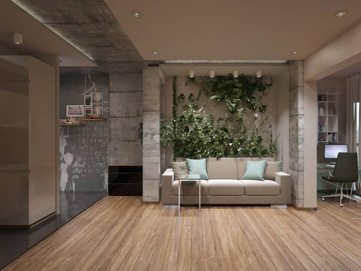 Квартира студия в Москве: Гостиная в . Автор – EEDS design
