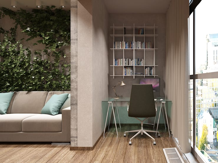 Квартира студия в Москве: Tерраса в . Автор – EEDS design