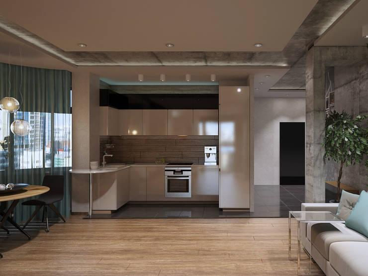 Квартира студия в Москве: Кухни в . Автор – EEDS design
