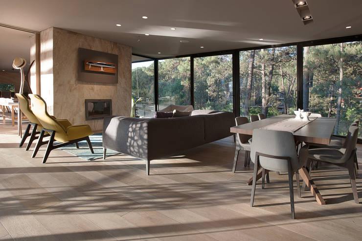 Salas de estilo moderno por Vieyra Arquitectos