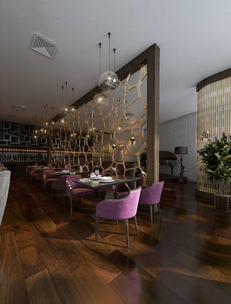Ресторан: Ресторации в . Автор – MONTE FEE INTERIOR DESIGN STUDIO