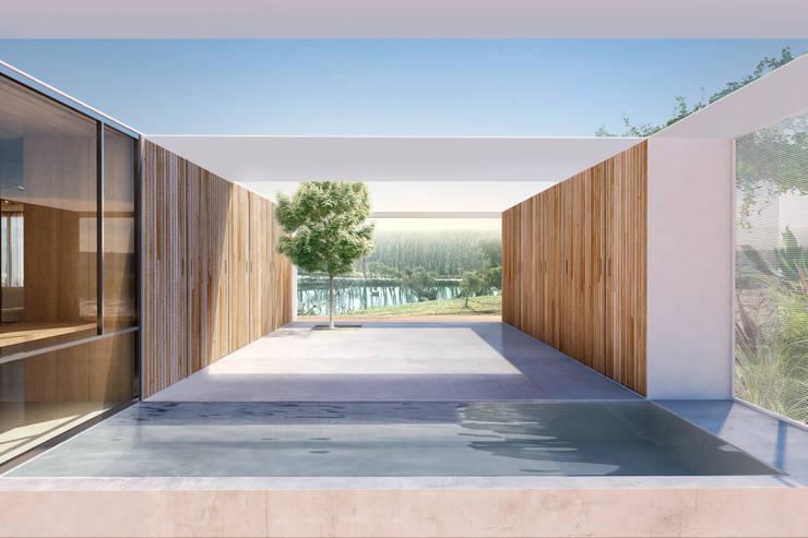 Casa Extremadura: Estudios y despachos de estilo rural de Estudio de Arquitectura Teresa Sapey
