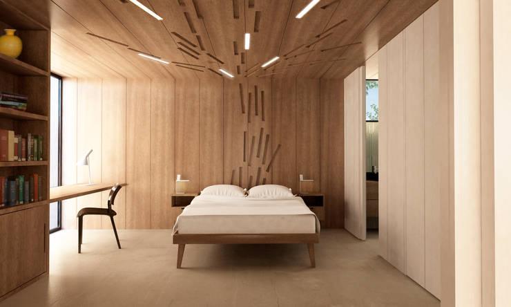 Casa Extremadura: Dormitorios de estilo rural de Estudio de Arquitectura Teresa Sapey