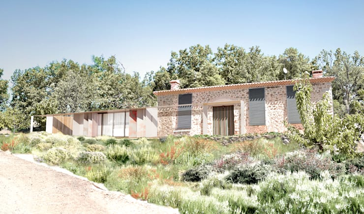 Casa Extremadura: Casas de estilo  de Estudio de Arquitectura Teresa Sapey