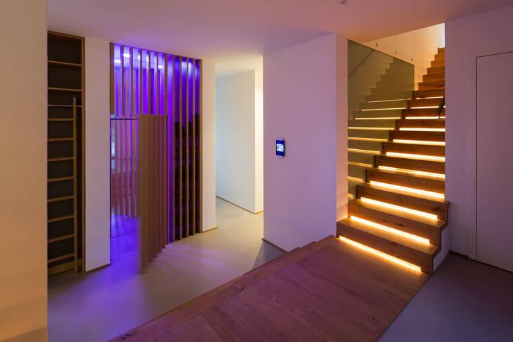 ห้องโถงทางเดินและบันไดสมัยใหม่ โดย schulz.rooms โมเดิร์น