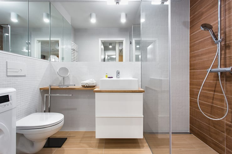 Nadwiślańska 11 – 37m2: styl , w kategorii Łazienka zaprojektowany przez UNQO