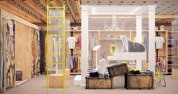Проект интерьера бутика <q>Street style</q>: Офисы и магазины в . Автор – Александра Мовчан