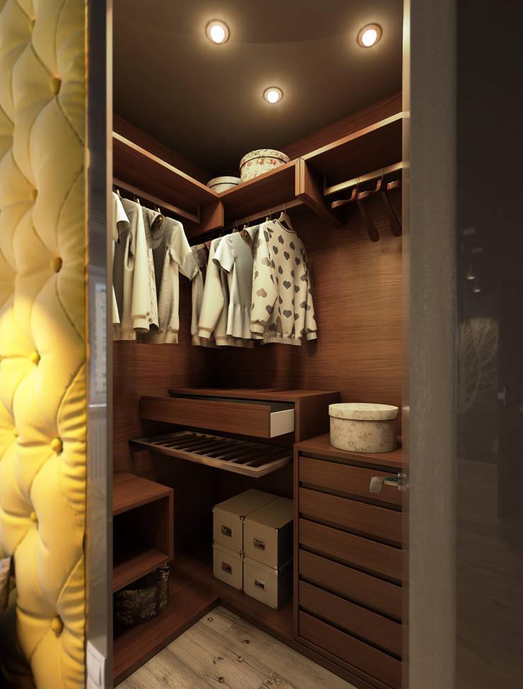Дизайн проект квартиры: Гардеробные в . Автор – MONTE FEE INTERIOR DESIGN STUDIO